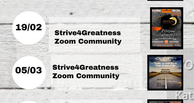 anstehende Termine für unsere Zoom-Community!